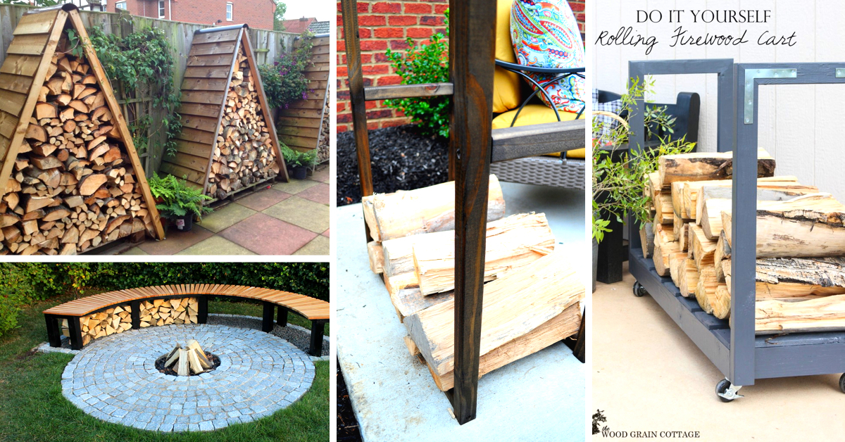 14 Easy DIY Outdoor Firewood Racks to Keep Those Logs ...