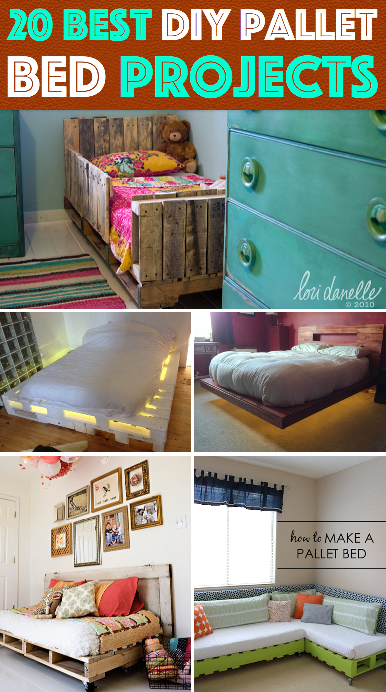 Single pallet bed frame - 20 Best Diy Pallet Bed Projects