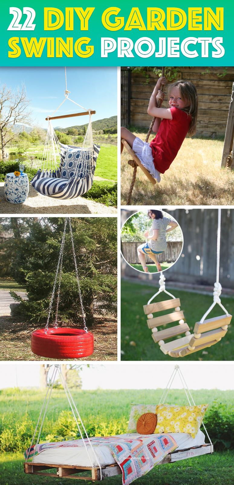 22 DIY Garden Swings You Can Bring To Life Almost Effortlessly