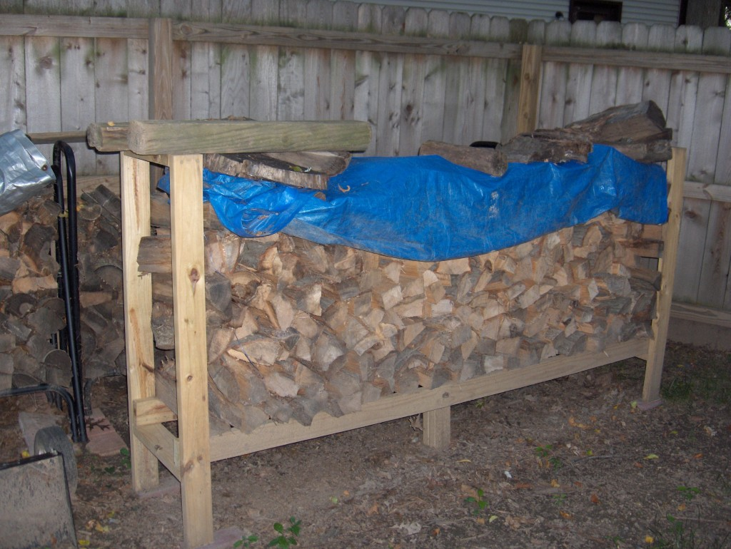 Easy diy outdoor firewood racks to keep those logs