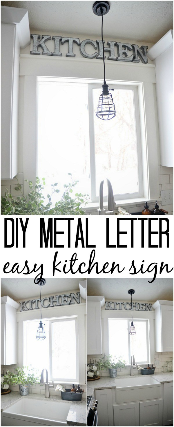Diy Metal Letter Industrial Kitchen Sign Cute Diy Projects
