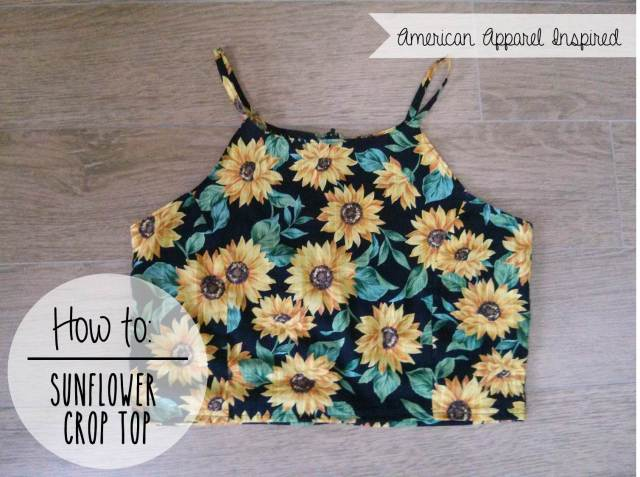 DIY Sunflower Crop Top