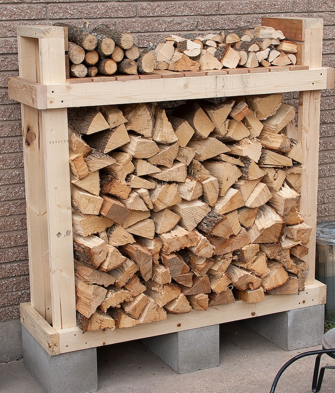 Firewood Rack For 1/2 Rick Of Wood