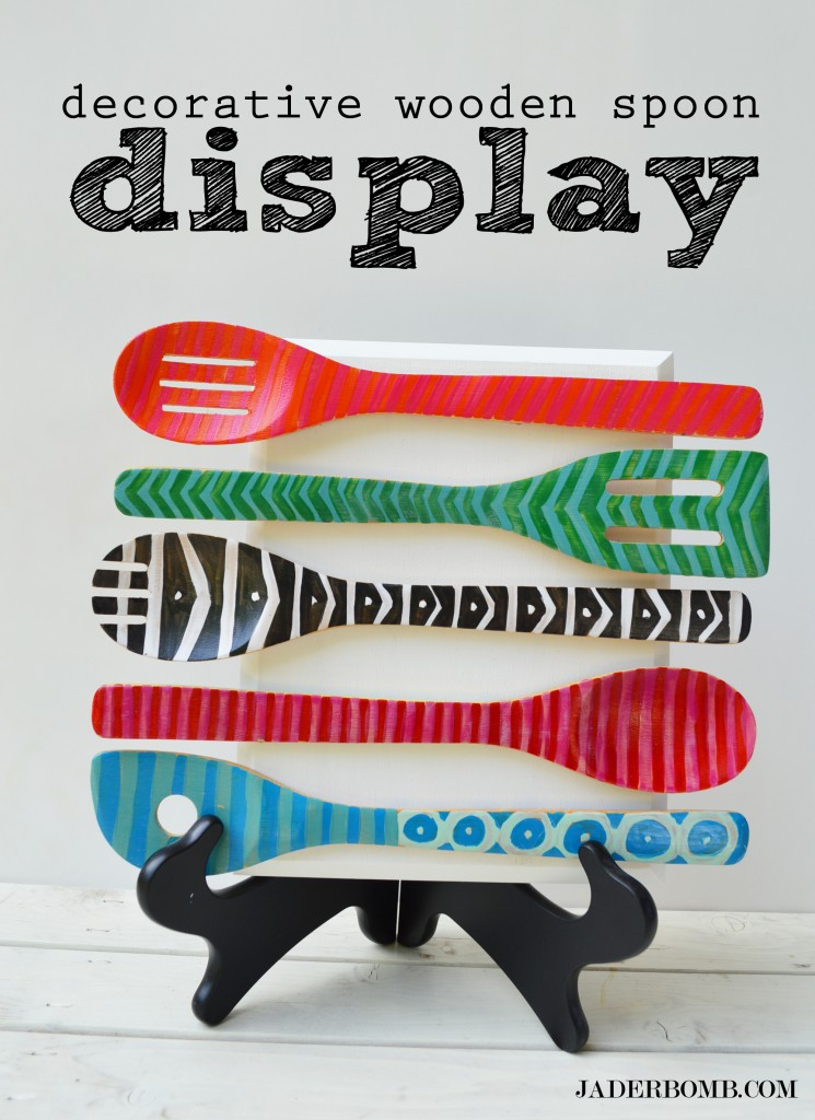 Kitchen Decorating - Wooden Spoon Display