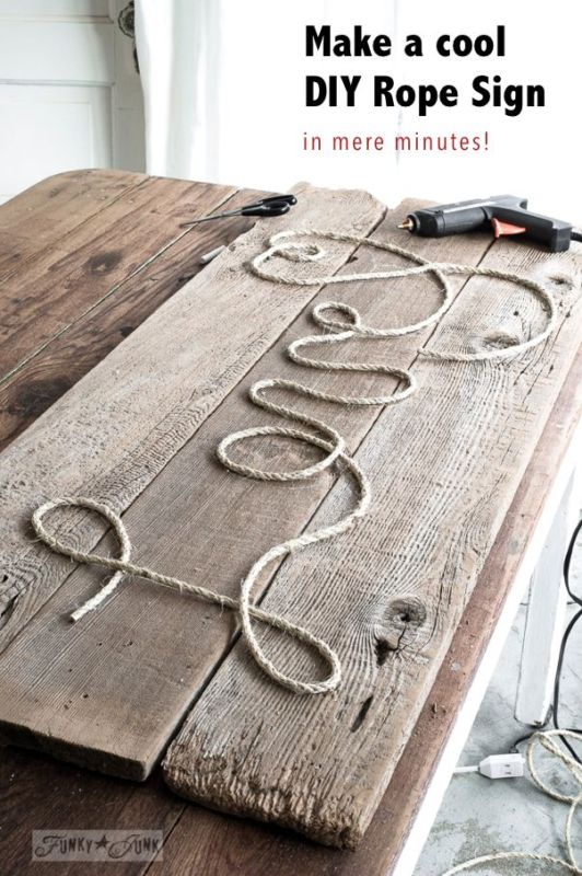 Make A Cool DIY Rope Sign