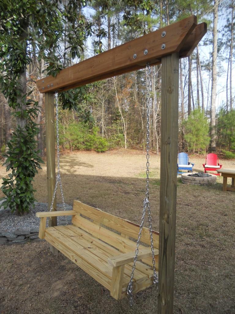 porch swing stand plans myoutdoorplans woodworking
