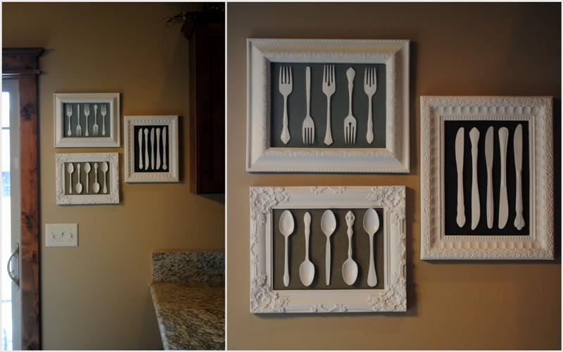 25 silverware artwork - Diy Kitchen Decor