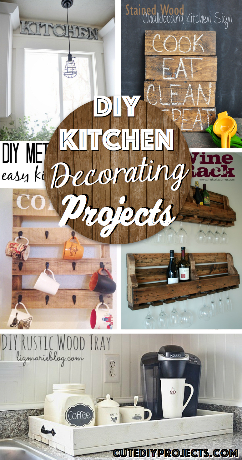 35 Diy Kitchen Decorating Projects Giving A Complete Makeover To