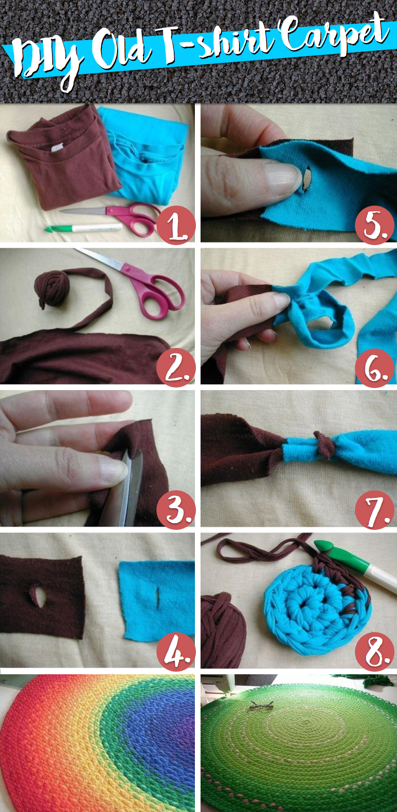Put Those Old Tees To Wonderful Use With This Diy Old T