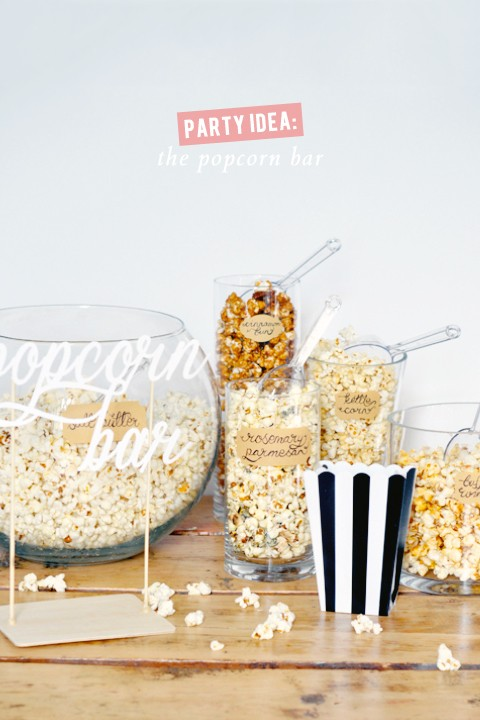 Homemade Popcorn Bar