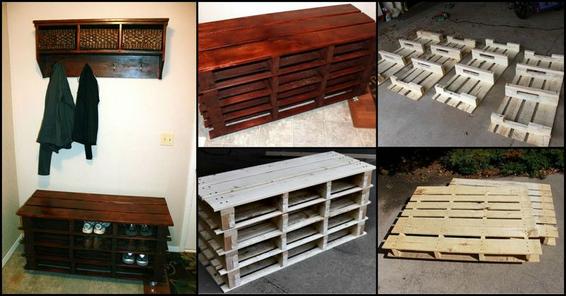 Pallet Foyer Bench : The best diy entryway bench projects page of