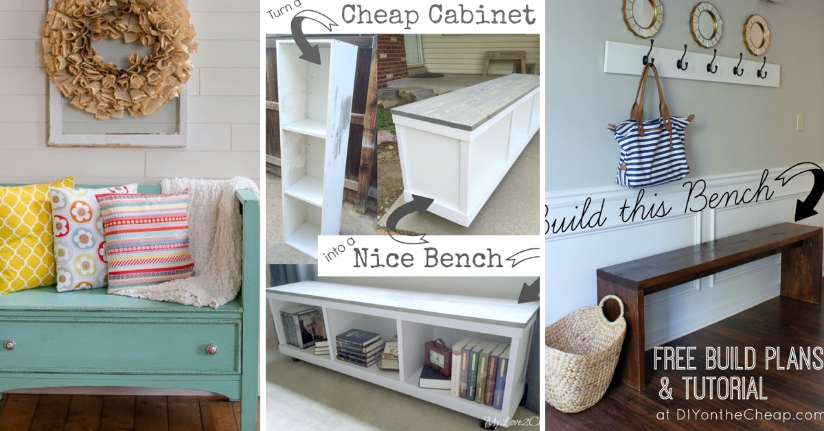 Build Foyer Bench : The best diy entryway bench projects page of