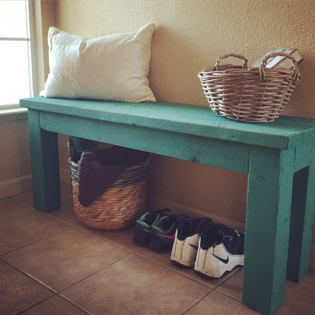 Turquoise 2x4 Entry Bench