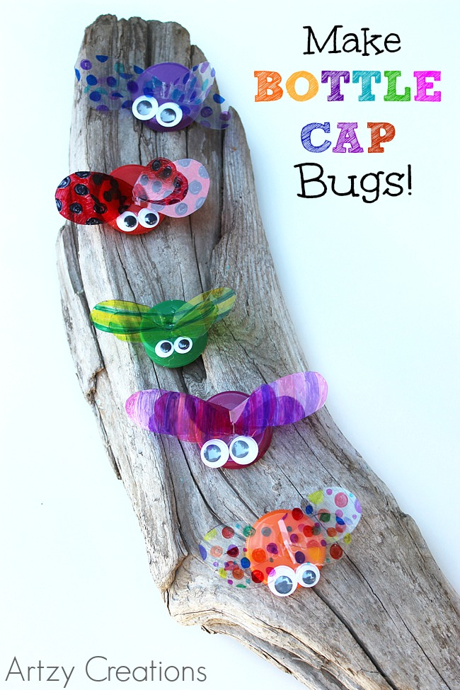 Best 29 diy summer projects for kids page 2 of 3 cute for Bottle cap hat diy