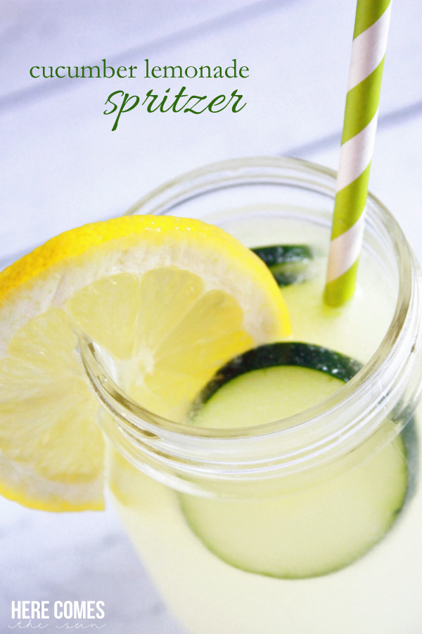 26. Cucumber Lemonade Spritzer