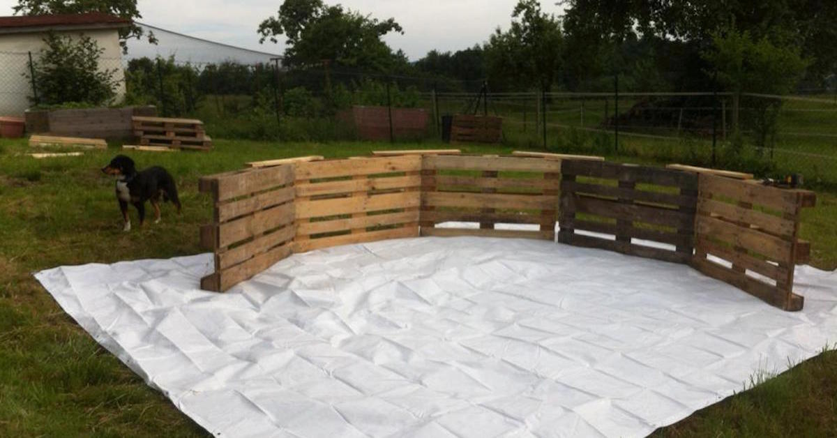 How you can transform 9 wooden pallets into a diy swimming Cost of building a public swimming pool
