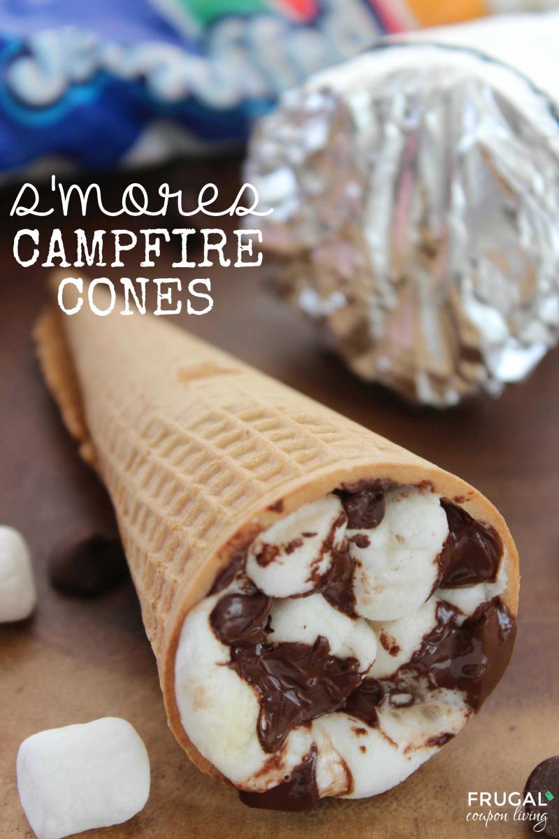 S'mores Campfire Cones