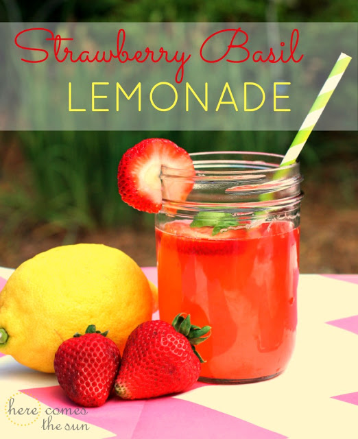 33. Strawberry Basil Lemonade