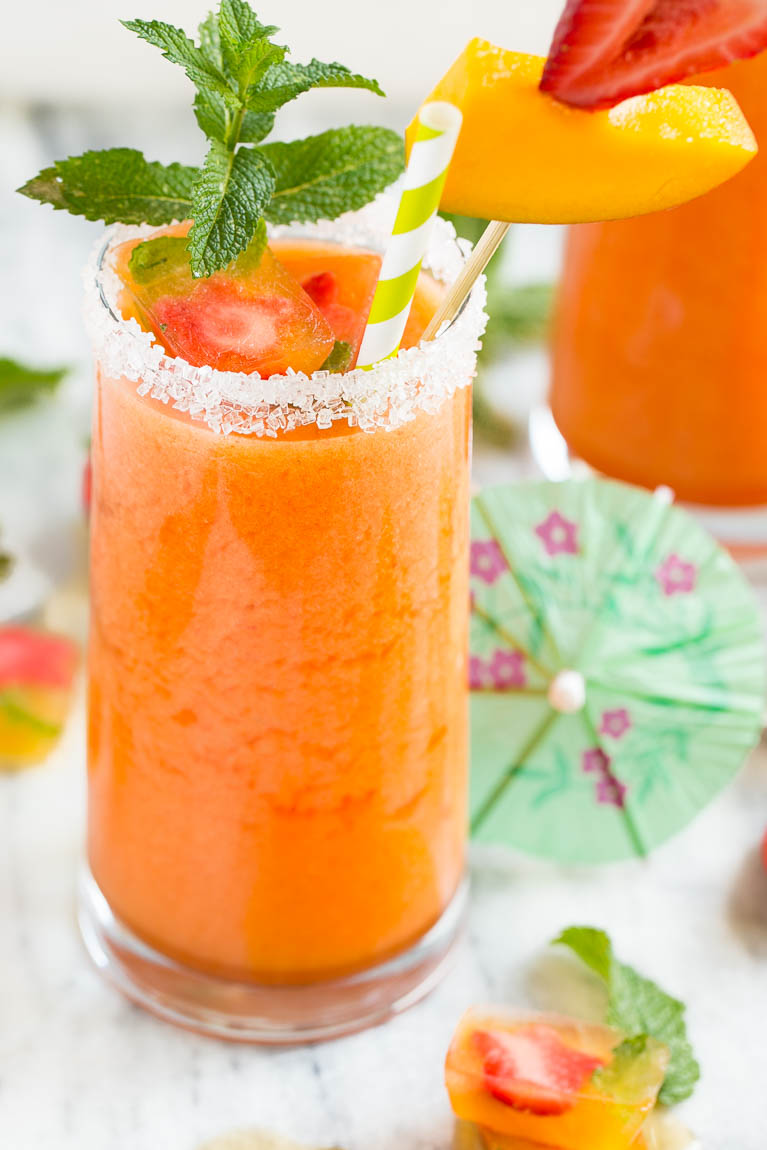 Raspberry-Mint Agua Fresca Recipe — Dishmaps