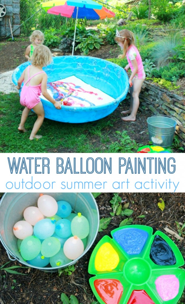 Water Balloon Painting: Outdoor Summer Art Activity