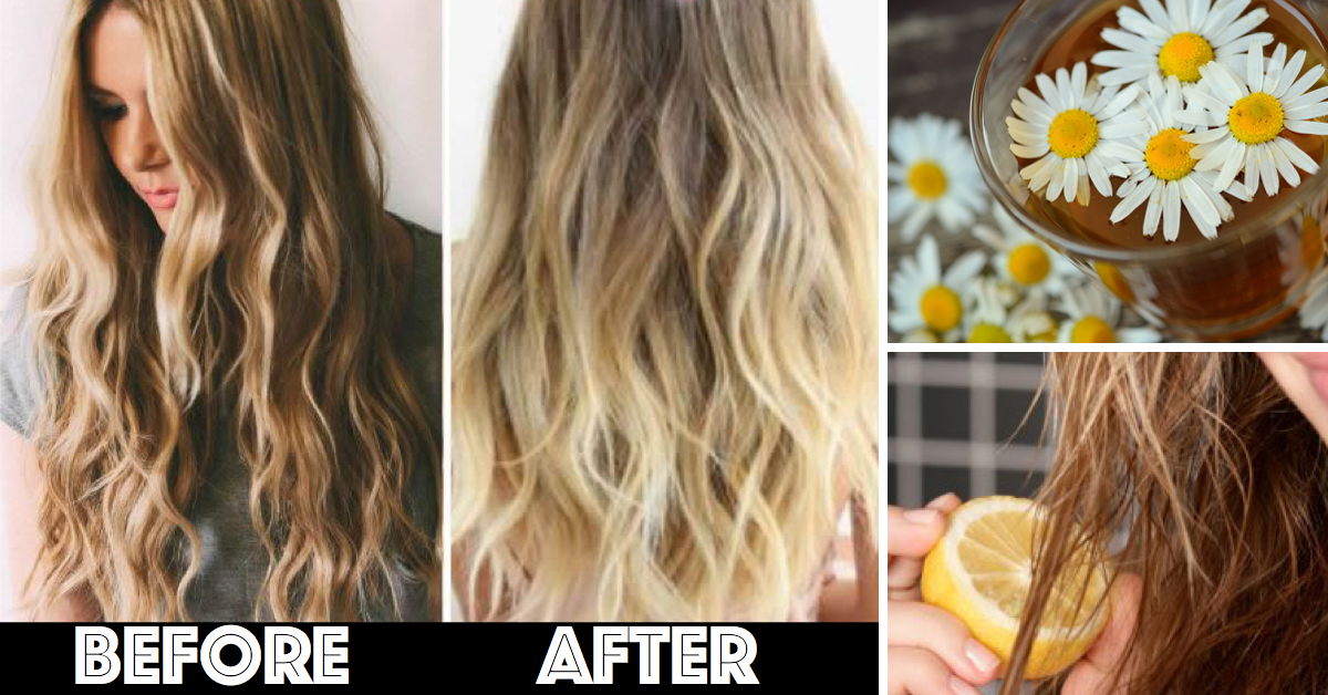 10 Amazingly Simple Ways To Lighten Your Hair Naturally Cute Diy