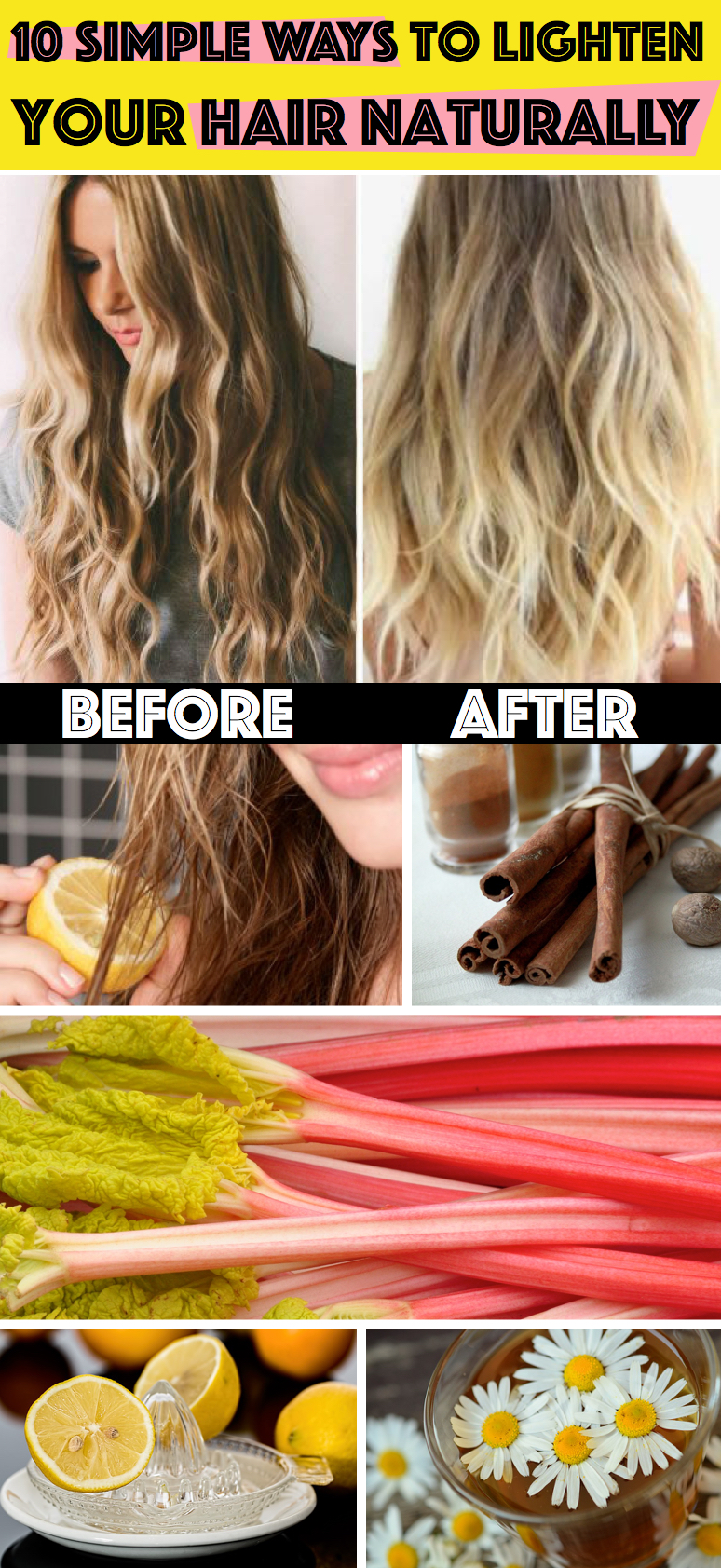How To Lighten Your Hair At Home Diy Best Diy Do It Your Self