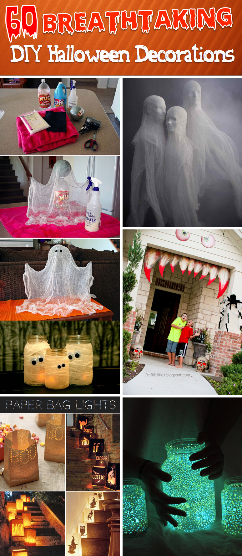 Diy halloween decorations - 60 Breathtaking And Effortless Diy Halloween Decorations