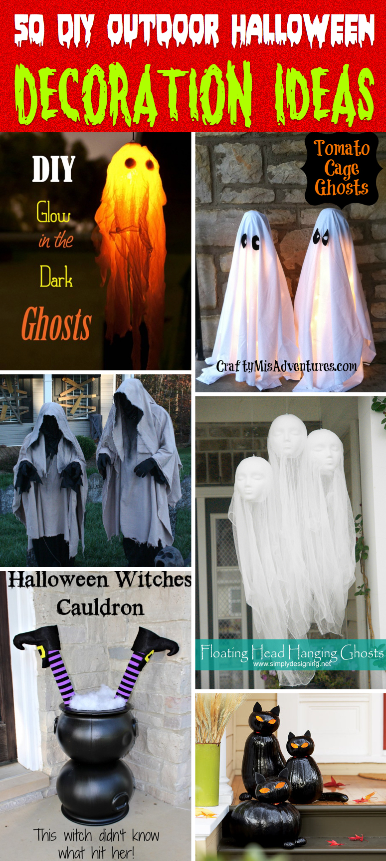Outdoor halloween decorations 2014 - 50 Astounding But Easy Diy Outdoor Halloween Decoration Ideas
