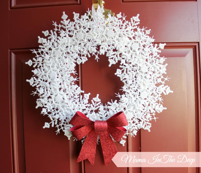 dollar store diy my snowflake wreath