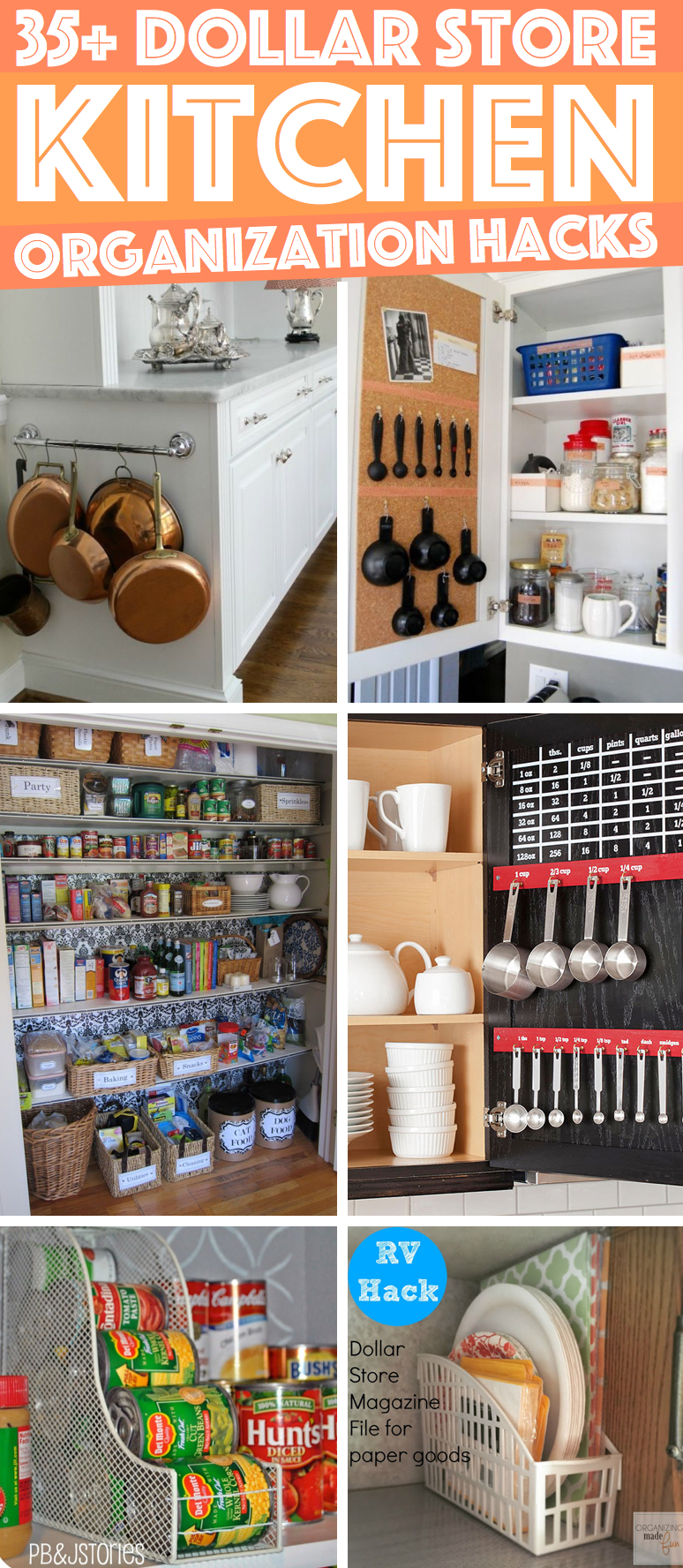 36 Dollar Store Kitchen Organization Hacks You Can Pull Off