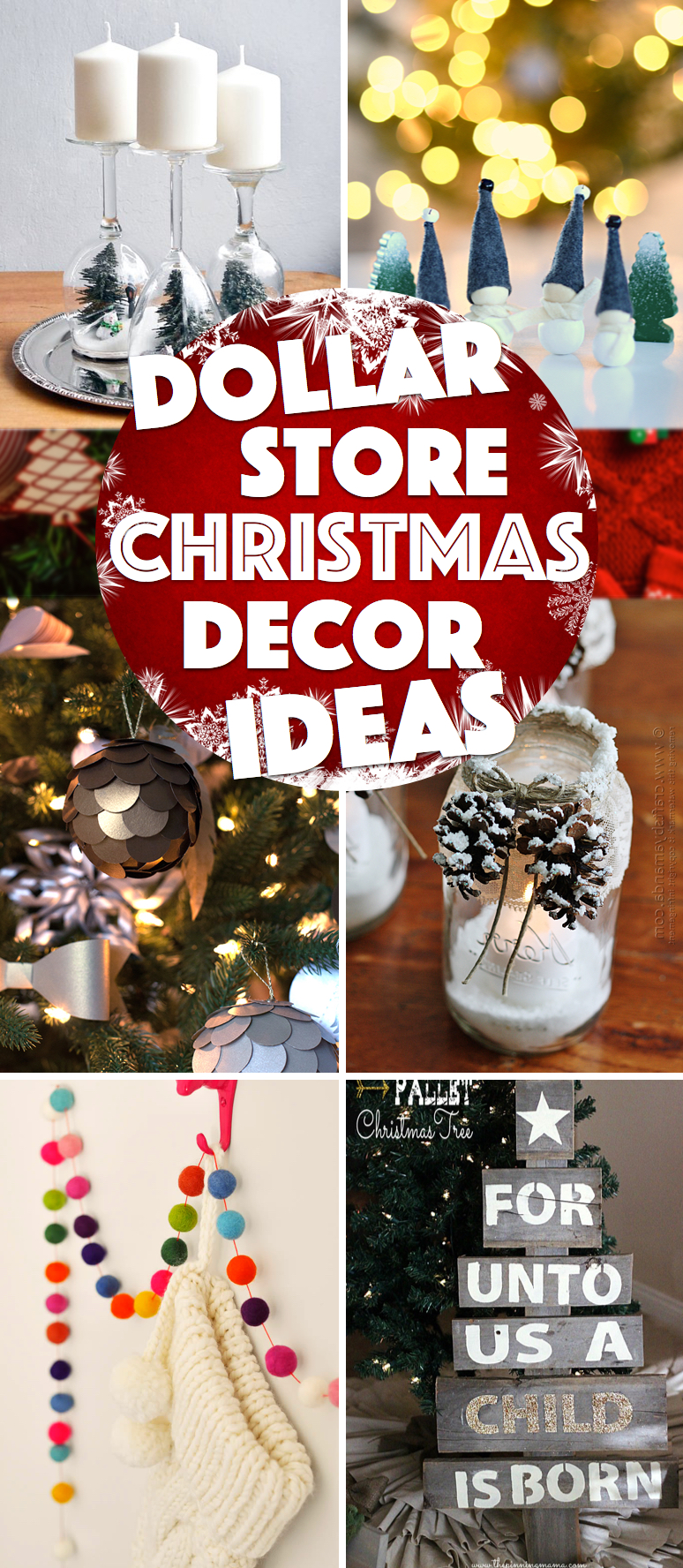 39 Oh So Gorgeous Dollar Store DIY Christmas Decor Ideas