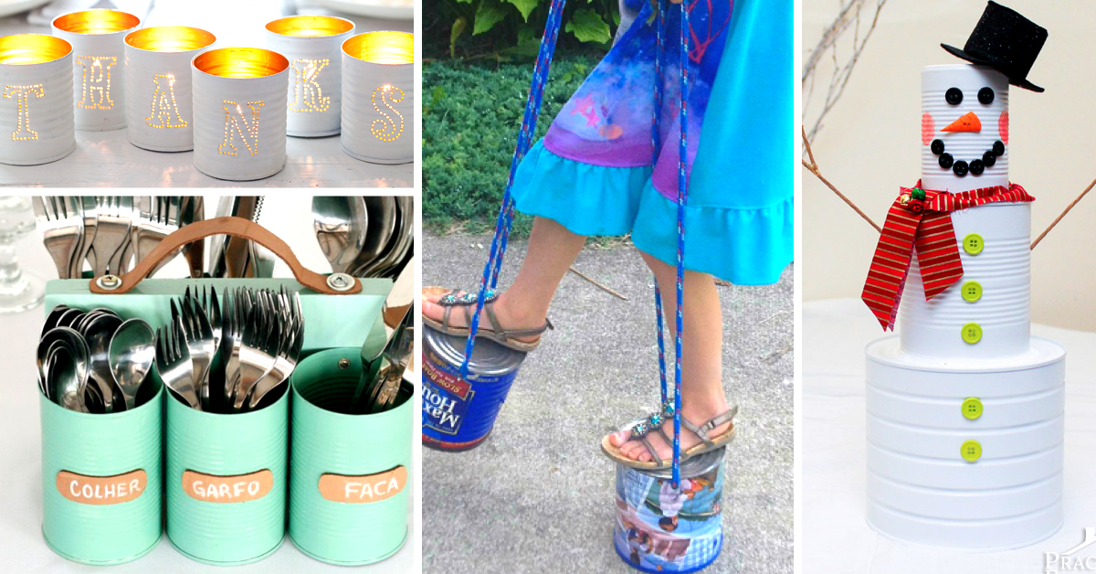 45 ideas about upcycling tin cans and turning them into an for Christmas crafts out of tin cans