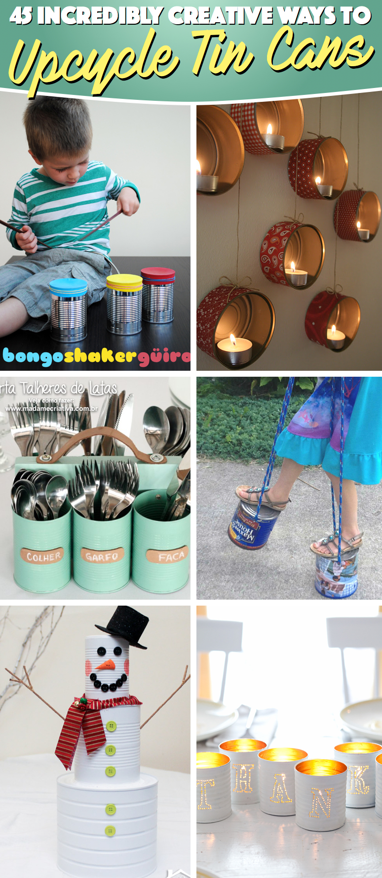 45 Ideas About Upcycling Tin Cans And Turning Them Into An All New Thing Of Wonder Cute Diy Projects