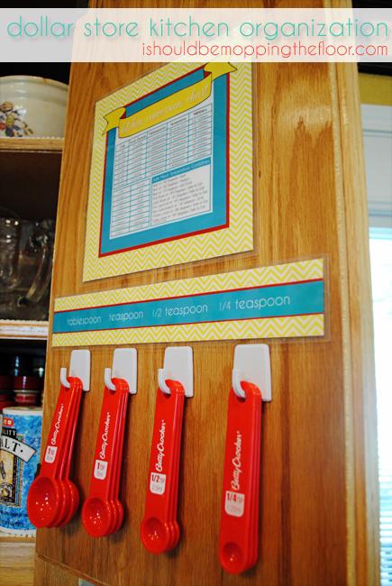 Dollar Store Kitchen Organization