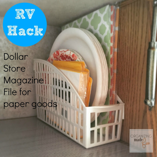 Dollar Store Magazine File for Paper Goods
