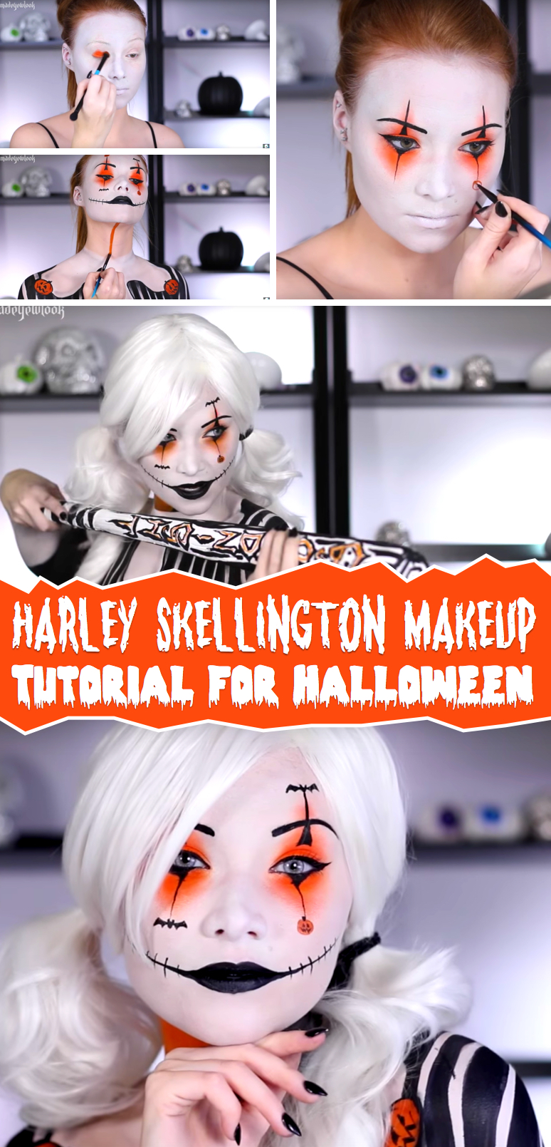 This Halloween, Transform Yourself Into the Wickedly Glamorous Harley Quinn Skellington!