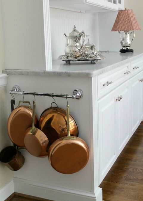 Towel Bar to Organize Pots and Pans