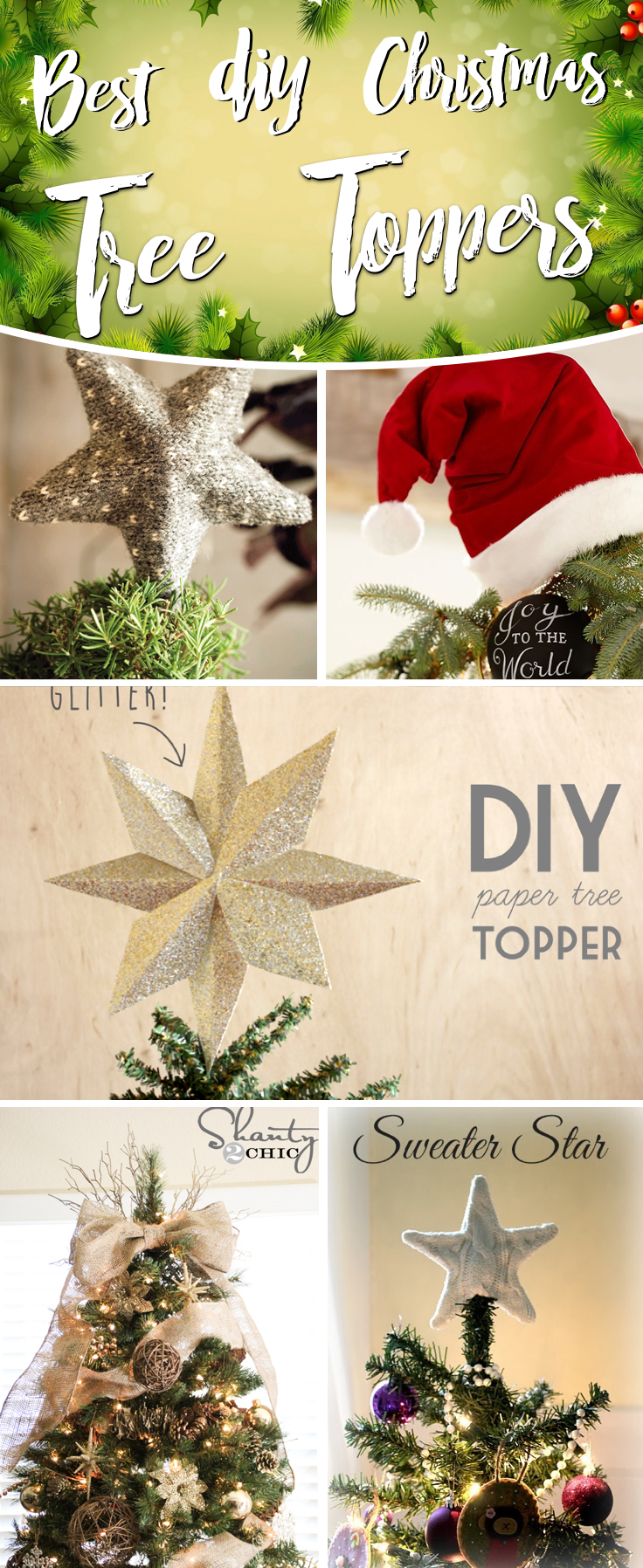 25 ideas on christmas tree toppers that can reinvigorate your festivities - Homemade Christmas Tree Topper Ideas