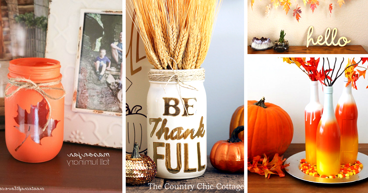 30 diy thanksgiving decoration ideas to setup a fall for Thanksgiving home decorations