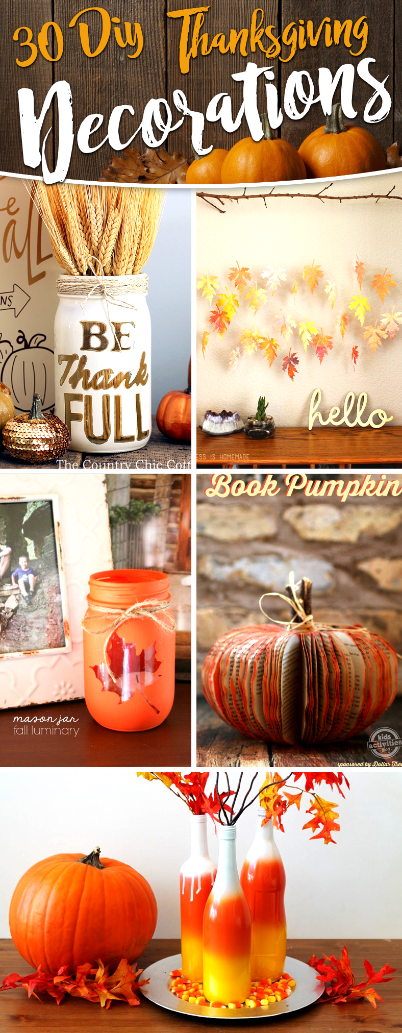 30 Diy Thanksgiving Decoration Ideas To Setup A Fall Inspired Home Cute Diy Projects