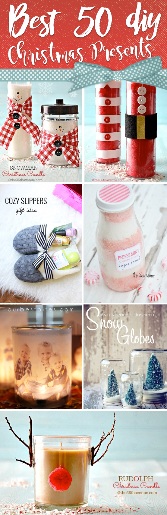 50 Diy Christmas Presents Reminding Your Loved Ones Of You For Years Cute Diy Projects