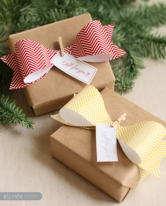 How to make a paper bow for gifts