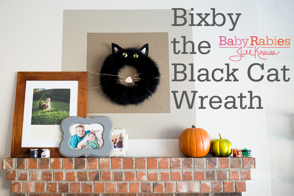 Bixby The Black Cat Halloween Wreath