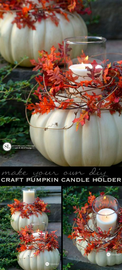 Craft Pumpkin Candle Holders