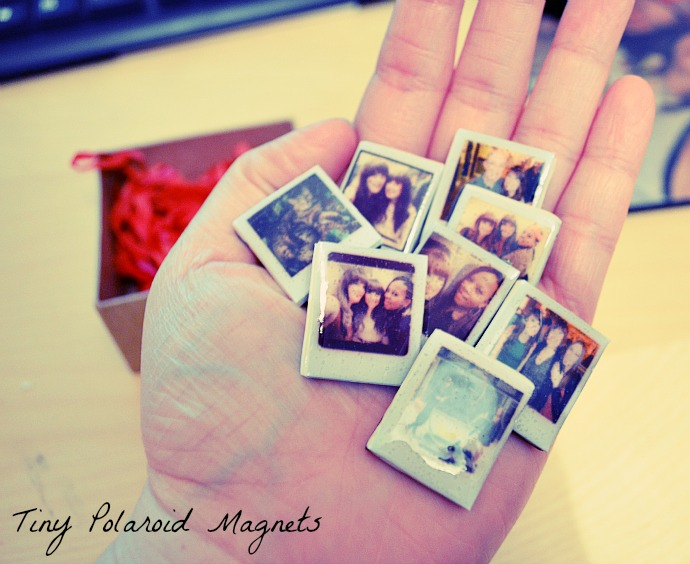 DIY Craft - Tiny Polaroid Magnets