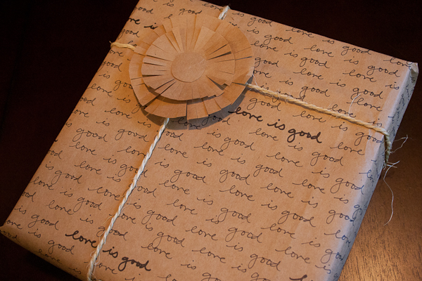 DIY Handwritten Wrapping Paper