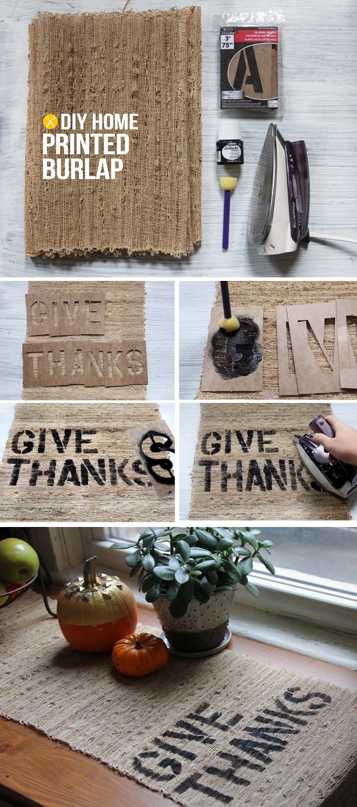 DIY Home Thanksgiving