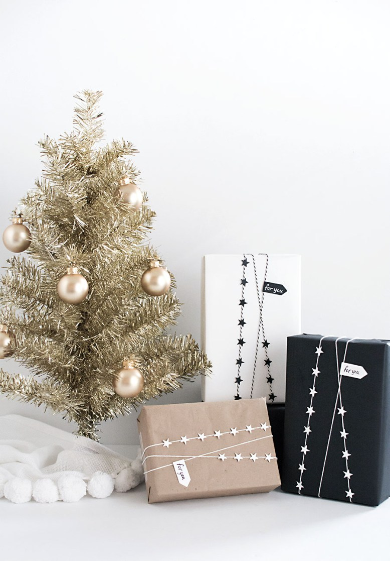 DIY Star Garland Gift Wrap