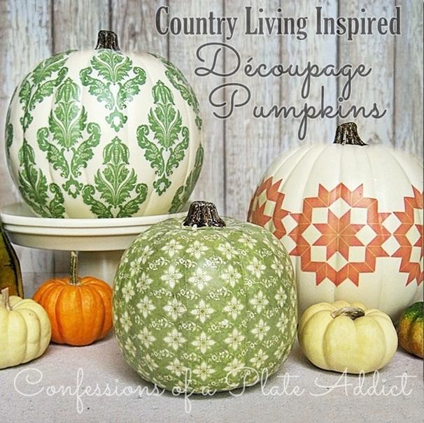 Decoupage Pumpkins \u2013 Cute DIY Projects