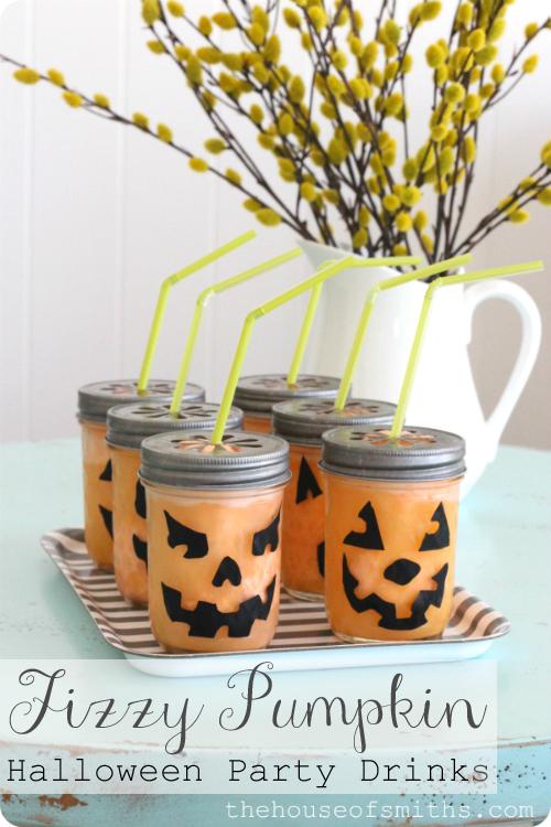 Fizzy Pumpkin Halloween Drink Party Tips